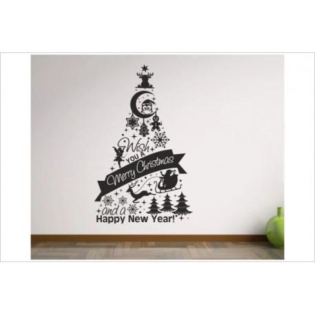 x mas aufkleber weihnachtsbaum symbol zeichen sterne frohe. Black Bedroom Furniture Sets. Home Design Ideas