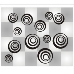 Retro Kreise 26 Stück
