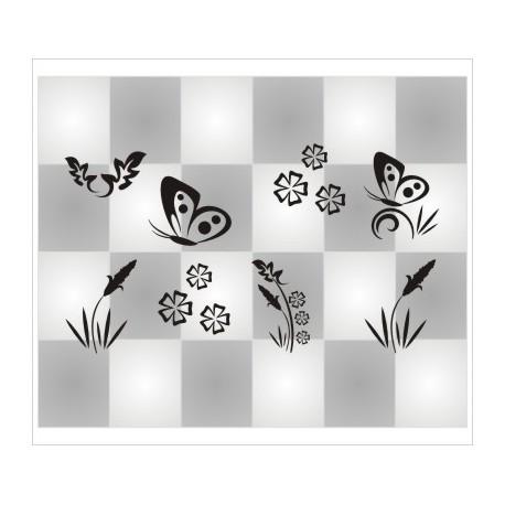 Blumen & Schmetterlinge 29 Stück