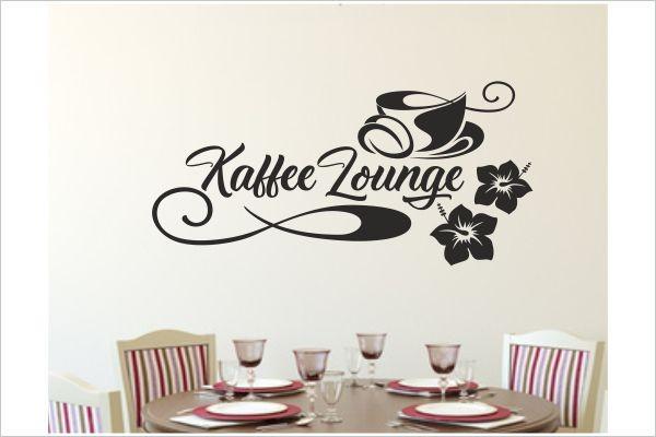 Küche Kaffee Lounge Tasse Coffee Café Esszimmer Aufkleber Dekor ...