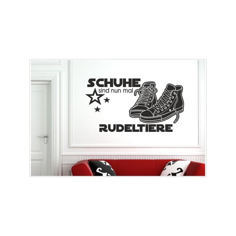 Aufkleber Shoes Rudeltiere Sneaker Der Turnschuhe Chuck Wandtattoo Schuhe Wandaufkleber Shop Shoe Dekor 6x Sportschuhe Jl3F1cTK