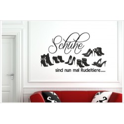 Schuhe Rudeltiere High Heels Pomps Stiefeletten Sandalen Frauen Shoe Shoes  Wandaufkleber Aufkleber Wandtattoo