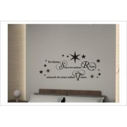 Kleiner Stern am Himmel Sterne Zitat Glück Wandaufkleber Wandtattoo Aufkleber Wand Tattoo Schlafzimmer