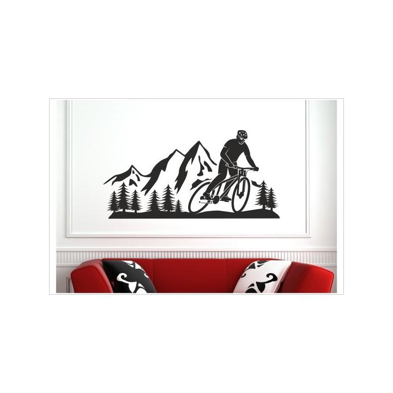 Landschaft Berge Offraod Fahrrad Biker Wand Panorama Alpen Aufkleber Set Autoaufkleber Sticker Der Dekor Aufkleber Shop