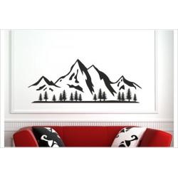 Landschaft Berge Offraod Wald Wälder Tanne Panorama  Alpen Aufkleber SET Autoaufkleber Sticker