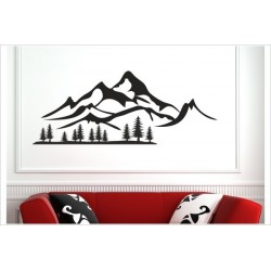 Landschaft 2farbig Berge Offraod Tanne Wald Wälder  Alpen Aufkleber SET Autoaufkleber Sticker