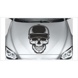 Totenkopf Skull Tattoo Hipster Gangster Cappy  Aufkleber Auto Autoaufkleber