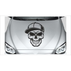 Totenkopf Skull Tattoo Hipster Gangster Cappy  Aufkleber Auto Autoaufkleber