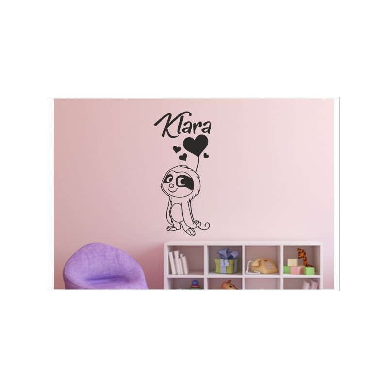 Faultier Sloth Herz Liebe Liebhaben Kinder Kids Aufkleber Wand Tattoo Sticker Wandtattoo Wandaufkleber Der Dekor Aufkleber Shop