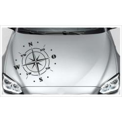 Windrose Kompass Aufkleber 4x4 Auto Offroad 4x4 Fahrzeugbeschriftung