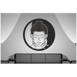 Aufkleber Buddha Mönch Indien Yoga Meditation Yin Yang Asia Dekor Wandtattoo Wandaufkleber