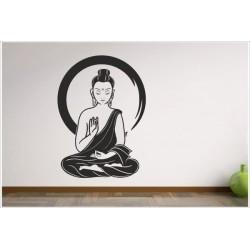 Aufkleber Buddha Indien Yoga Meditation Yin Yang Asia Dekor Wandtattoo Wandaufkleber