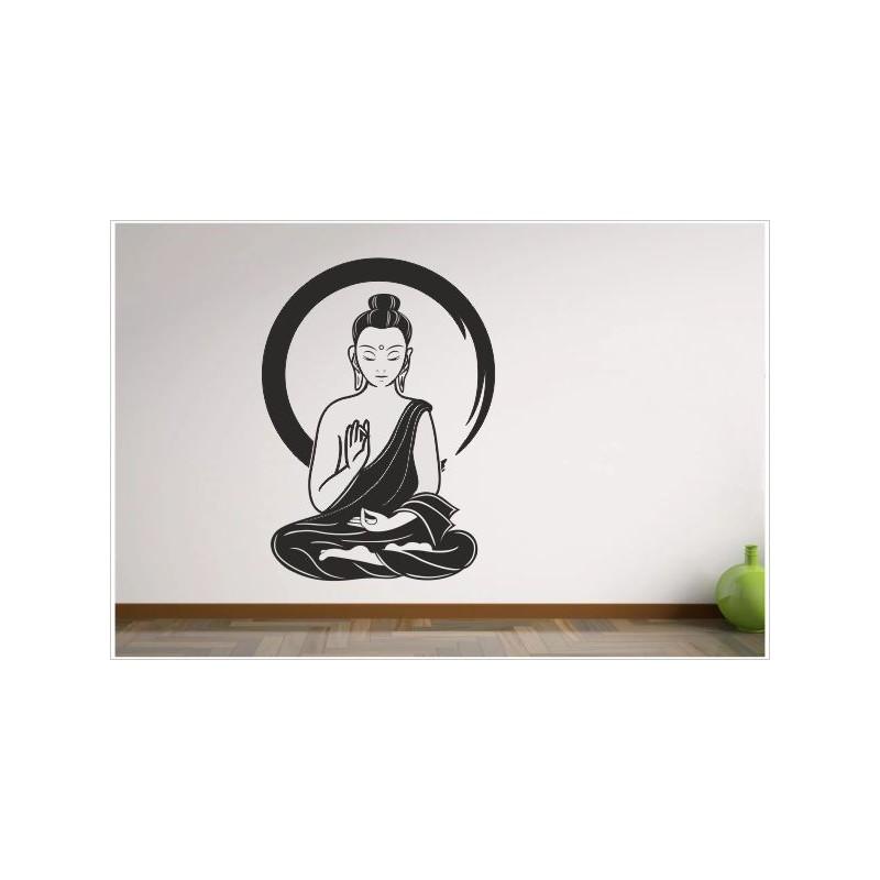 Aufkleber Buddha Indien Yoga Meditation Yin Yang Asia Dekor