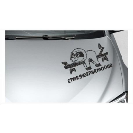 "kleines Faultier Sloth ""Energiesparmodus""  Chillen Aufkleber Auto Tattoo Sticker Tattoo Car Style"