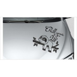 "kleines Faultier Sloth ""Chill your Life""  Chillen Aufkleber Auto Tattoo Sticker Tattoo Car Style"