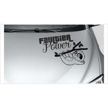 "kleines Faultier Sloth ""Faultier Power"" Chillen Aufkleber Auto Tattoo Sticker Tattoo Car Style"