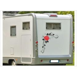 Aufkleber SET Rose Rosen Dekor  Wohnmobil Wohnwagen Caravan Camper 2farbig Aufkleber Auto