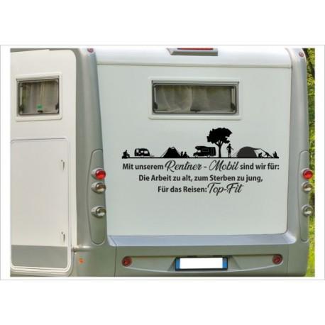 Aufkleber Zu alt zum Arbeiten Wohnmobil Wohnwagen Camping Camper Caravan Auto