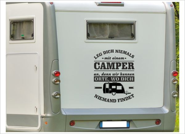 Aufkleber Wohnmobil Spruch Camper Camping Orte Wohnwagen Caravan