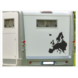 Aufkleber Wohnmobil Landkarte Europa Globus Wohnwagen Caravan Camper Aufkleber Auto WOMO