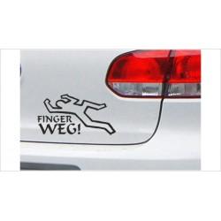 DUB FUN OEM JDM Aufkleber Mini FUN TOT - Finger WEG!! Auto Aufkleber Sticker