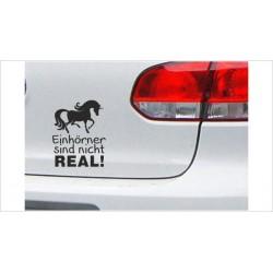"DUB FUN OEM JDM Aufkleber Mini FUN ""Einhörner sind nicht REAL"" Auto Aufkleber Sticker"