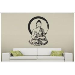Wandaufkleber Buddha Buddhist  Meditation Indien Mönch Yin Yang Einklang  Aufkleber Wandtattoo Wandsticker