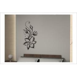 Blumen Dekor Ranke Blüte Wandaufkleber Wandtattoo Aufkleber Wand Tattoo Schlafzimmer