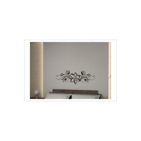 Blumen Dekor Style Blume Blüten Wandaufkleber Wandtattoo Aufkleber Wand Tattoo Schlafzimmer