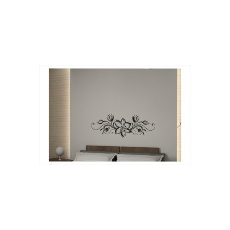 Blumen Dekor Tribal Blüten Ranke Wandaufkleber Wandtattoo Aufkleber Wand Tattoo Schlafzimmer