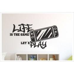 Game Gamer LIFE  Zocken Konsole Spielen PS Kontroller Video Games Wandtattoo Wandaufkleber
