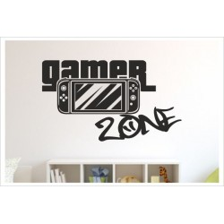 Game Gamer Zone Zocken Konsole Spielen PS Kontroller Video Games Wandtattoo Wandaufkleber