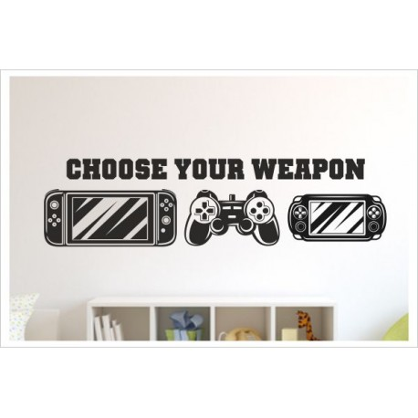 Game Gamer Zocken Konsole Spielen PS Kontroller Video Games Wandtattoo Wandaufkleber