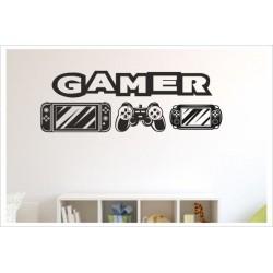 Game Gamer Zocken Konsole Spielen PS Kontroller Video Games Wandtattoo Wandaufkleber