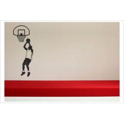 Aufkleber Basketball Korb Ball Spieler Gamer Sport Kinder Wandaufkleber Wandtattoo