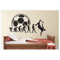 Fußball Spieler Evolution Kicker Soccer Kinder Kids Ball Tor Torwart Wandaufkleber Aufkleber Wandtattoo