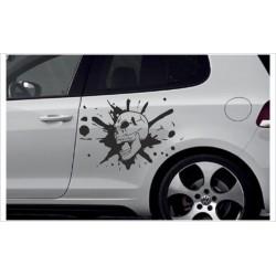Car Aufkleber SET Totenkopf Schädel Skull Autoaufkleber Style Tattoo Sticker