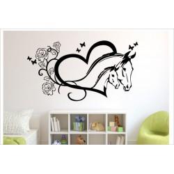 Fohlen Pferd Pony Stute Hengst Kinder Mädchen Schmetterling Aufkleber Wandtattoo Wandaufkleber