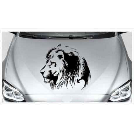 Löwe Lion Kopf Wild Tier Afrika Safari Offroad Wild Free Auto Aufkleber Motorhaube Car Style Tattoo