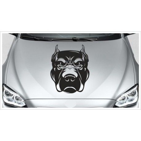 Aufkleber Hund Kampfhund Böser Blick Rotweiler Dogge Tattoo Auto Lack