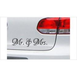"""DUB FUN OEM JDM Aufkleber Mini FUN """"Mr. & Mrs."""" Auto Aufkleber Sticker"""