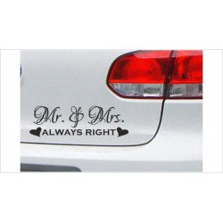 """DUB FUN OEM JDM Aufkleber Mini FUN """"Mr. & Mrs. always right"""" Auto Aufkleber Sticker"""