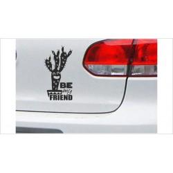 "DUB FUN OEM JDM Aufkleber Mini FUN Caktus Kaktus ""be friends"" Auto Aufkleber Sticker"