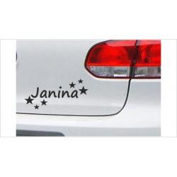 DUB FUN OEM JDM Aufkleber Wunschname Sterne Name Baby Kids Auto Aufkleber Sticker