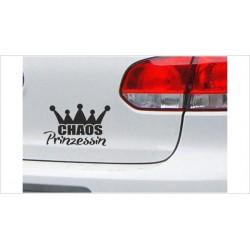 "DUB FUN OEM JDM Aufkleber Mini FUN ""Chaos Prinzessin"" Krone Auto Aufkleber Sticker"