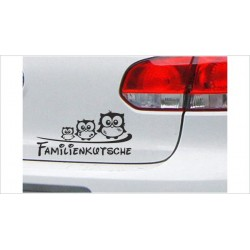 "DUB FUN OEM JDM Aufkleber Mini FUN ""Familienkutsche Eule Uhu"" Auto Aufkleber Sticker"