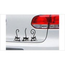 "DUB FUN OEM JDM Aufkleber Mini FUN ""3x Kätzchen"" Katze  Auto Aufkleber Sticker"