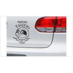 """DUB FUN OEM JDM Aufkleber Mini FUN """"kleines Faultier on Tour"""" Sloth Auto Aufkleber Sticker"""