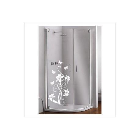 Glas Dekor Aufkleber Blumen Ranke Schmetterling Tribal Tattoo Fenster, Lack & Glas