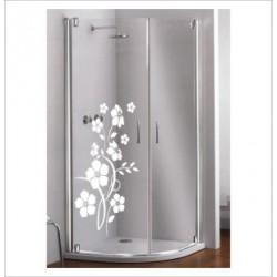 Glas Dekor Aufkleber Blumen Strauch Blüten  Tribal Tattoo Fenster, Lack & Glas